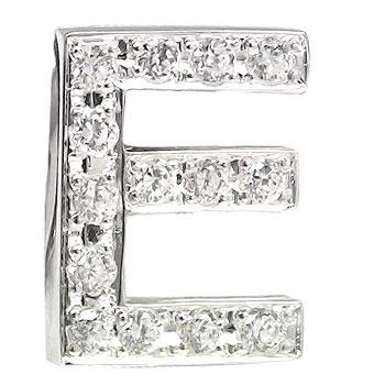 メンズ ピンブローチ ラペルピン ダイヤモンド プラチナ イニシャル E タイタック タイピン タックピン ダイヤ 送料無料
