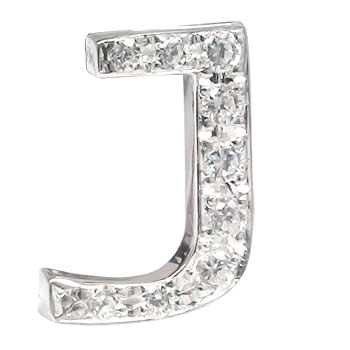 プラチナピンブローチ ダイヤモンド ラペルピン イニシャルブローチ J ダイヤ 0.10ct 人気ブローチ タックピン 送料無料