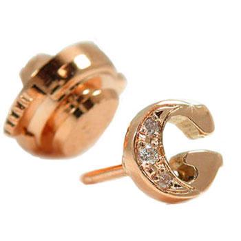 イニシャル ピンブローチ ラペルピン ダイヤモンド G ピンクゴールドk18 18金 タックピン ダイヤ 送料無料
