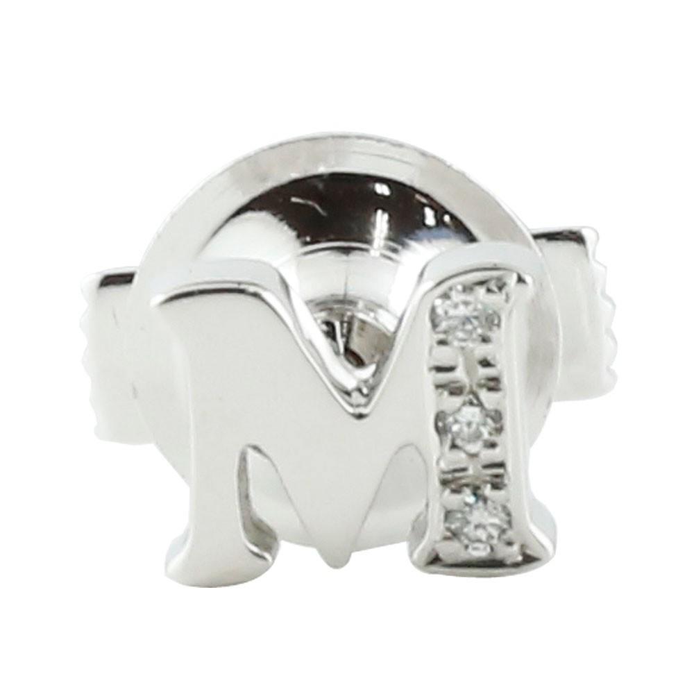 ピンブローチ ラペルピン イニシャルブローチ ダイヤモンド プラチナ900 ダイヤ 0.03ct タックピン 送料無料