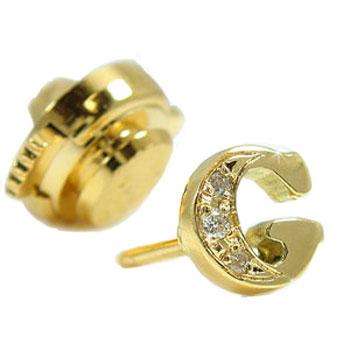 文字 ダイヤモンド イニシャルブローチイエローゴールドk18ダイヤモンド K18 タックピン ダイヤ 18金 送料無料