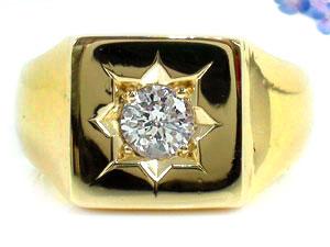 ピンキーリング ダイヤモンド リング 指輪 イエローゴールドk18 一粒 大粒 SI 鑑定書付 18金 ダイヤモンドリング ダイヤ ストレート