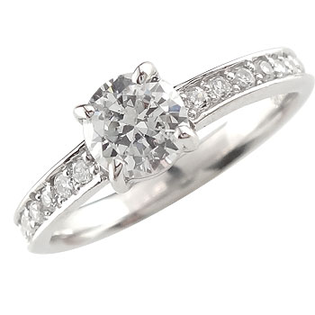 ピンキーリング ダイヤモンド エタニティ 鑑定書 プラチナリング 指輪 リング エタニティリング VS一粒 大粒 リング ダイヤ ストレート