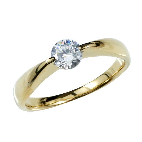 ピンキーリング 指輪 ダイヤモンド リング イエローゴールドk18 一粒 大粒 VVS1クラス 鑑定書付 18金 ダイヤモンドリング ダイヤ ストレート 妻 嫁 奥さん 女性 彼女 娘 母 祖母 パートナー