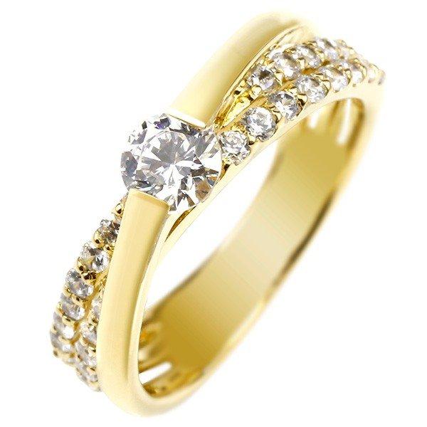 婚約指輪 エンゲージリング ダイヤモンド リング ダイヤ 0.58ct 一粒 大粒ダイヤ イエローゴールドk18 18金 ストレート レディース ブライダルジュエリー ウエディング 贈り物 誕生日プレゼント ギフト 18k 妻 嫁 奥さん 女性 彼女 娘 母 祖母 パートナー 送料無料