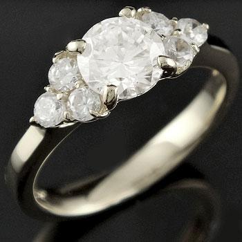 婚約指輪 エンゲージリング プラチナ ダイヤモンド 一粒 大粒 ダイヤ ストレート レディース ブライダルジュエリー ウエディング 贈り物 誕生日プレゼント ギフト ファッション お返し 妻 嫁 奥さん 女性 彼女 娘 母 祖母 パートナー 送料無料