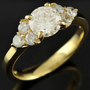 婚約指輪 エンゲージリング ダイヤモンド 一粒 大粒 イエローゴールドk18 ダイヤ 18金 ストレート レディース ブライダルジュエリー ウエディング 贈り物 誕生日プレゼント ギフト ファッション 18k お返し 妻 嫁 奥さん 女性 彼女 娘 母 祖母 パートナー 送料無料