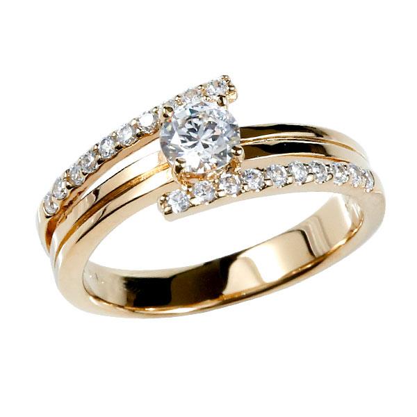 婚約指輪 エンゲージリング ダイヤモンド リング ピンクゴールドk18 ダイヤ 18金 ストレート レディース ブライダルジュエリー ウエディング 贈り物 誕生日プレゼント ギフト ファッション 18k お返し 妻 嫁 奥さん 女性 彼女 娘 母 祖母 パートナー 送料無料