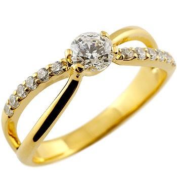 鑑定書付き 婚約指輪 エンゲージリング ダイヤモンド リング 指輪 イエローゴールドk18 大粒 ダイヤ SIクラス 18金 ストレート レディース ブライダルジュエリー ウエディング 贈り物 誕生日プレゼント ギフト 年末 ファッション 18k Xmas Christmas