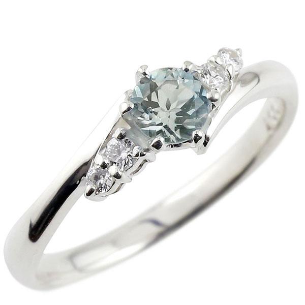 婚約指輪 エンゲージリング アクアマリン ダイヤモンド リング 指輪 一粒 大粒 ストレート シルバー レディース ブライダルジュエリー ウエディング 贈り物 誕生日プレゼント ギフト ファッション お返し