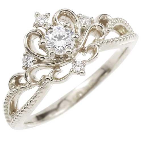 エンゲージリング プラチナ ダイヤモンド ティアラ ミル打ち 指輪 一粒 大粒 ダイヤ ダイヤモンドリング pt900 ファッション 妻 嫁 奥さん 女性 彼女 娘 母 祖母 パートナー