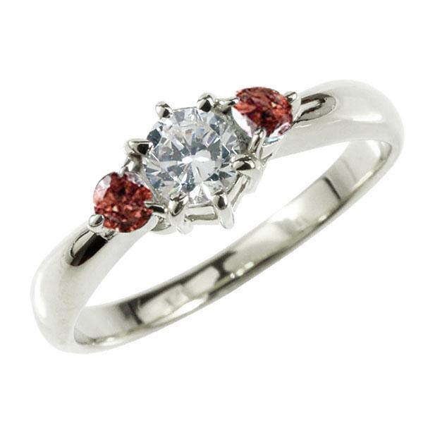 婚約指輪 エンゲージリング ダイヤモンド リング ガーネット 指輪 大粒 ダイヤ ホワイトゴールドK18 18金 ダイヤモンドリング ダイヤ ストレート レディース ブライダルジュエリー ウエディング 贈り物 ギフト 妻 嫁 奥さん 女性 彼女 娘 母 祖母 パートナー 送料無料