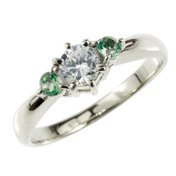婚約指輪 エンゲージリング ダイヤモンド リング エメラルド 指輪 大粒 ダイヤ ホワイトゴールドK18 18金 ダイヤモンドリング ダイヤ ストレート レディース ブライダルジュエリー ウエディング 贈り物 ギフト 妻 嫁 奥さん 女性 彼女 娘 母 祖母 パートナー 送料無料
