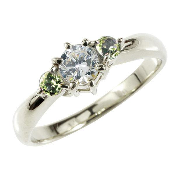 婚約指輪 エンゲージリング ダイヤモンド リング ペリドット 指輪 大粒 ダイヤ ホワイトゴールドK18 18金 ダイヤモンドリング ダイヤ ストレート レディース ブライダルジュエリー ウエディング 贈り物 ギフト 妻 嫁 奥さん 女性 彼女 娘 母 祖母 パートナー 送料無料