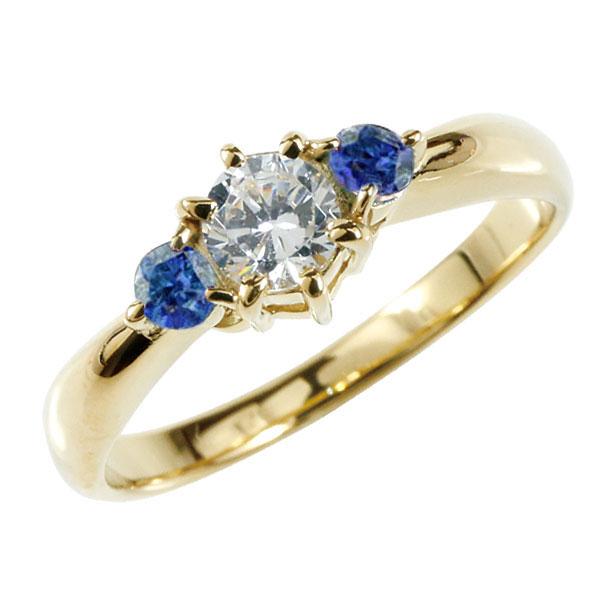 婚約指輪 エンゲージリング ダイヤモンド リング サファイア 指輪 大粒 ダイヤ イエローゴールドK18 18金 ダイヤモンドリング ダイヤ ストレート レディース ブライダルジュエリー ウエディング 贈り物 ギフト 妻 嫁 奥さん 女性 彼女 娘 母 祖母 パートナー 送料無料
