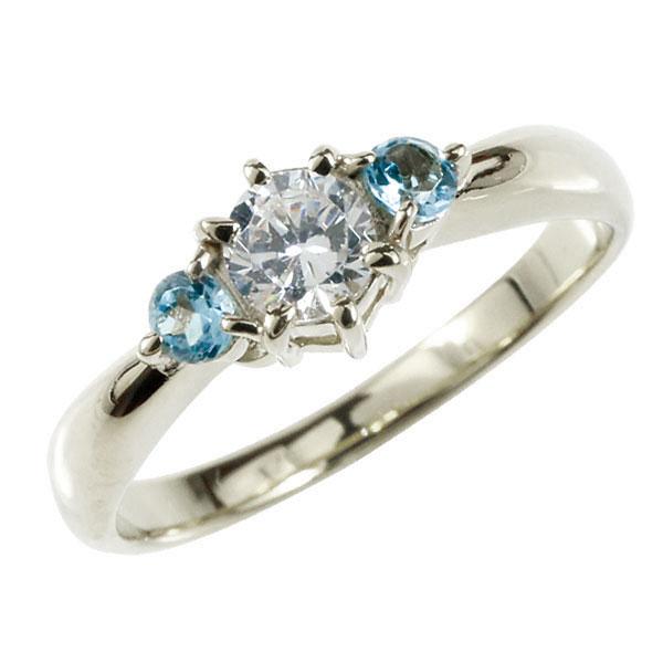 婚約指輪 エンゲージリング ダイヤモンド リング ブルートパーズ 指輪 大粒 ダイヤ ホワイトゴールドK18 18金 ダイヤモンドリング ダイヤ ストレート レディース ブライダルジュエリー ウエディング 贈り物 ギフト 妻 嫁 奥さん 女性 彼女 娘 母 祖母 パートナー 送料無料