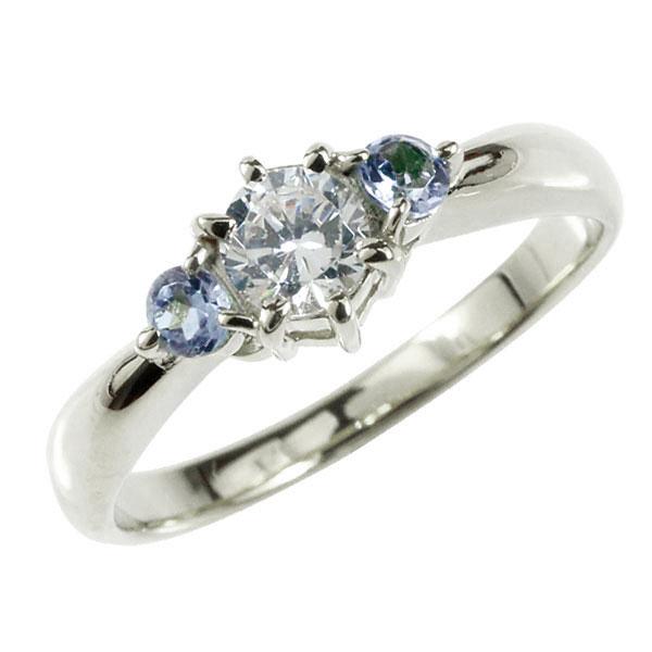 婚約指輪 エンゲージリング ダイヤモンド リング タンザナイト 指輪 大粒 ダイヤ ホワイトゴールドK18 18金 ダイヤモンドリング ダイヤ ストレート レディース ブライダルジュエリー ウエディング 贈り物 ギフト 妻 嫁 奥さん 女性 彼女 娘 母 祖母 パートナー 送料無料