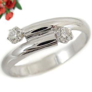 【送料無料】ダイヤモンド リング ホワイトゴールドK18 婚約指輪 エンゲージリング ピンキーリング 18金 ダイヤモンドリング ダイヤ ストレート 贈り物 誕生日プレゼント ギフト ファッション 18k