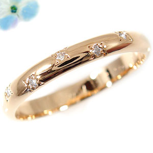 ダイヤモンド リング エンゲージリング 婚約指輪 ピンキーリング ピンクゴールドK18 18金 ダイヤモンドリング ダイヤ ストレート 2.3 贈り物 誕生日プレゼント ギフト ファッション 18k 妻 嫁 奥さん 女性 彼女 娘 母 祖母 パートナー 送料無料