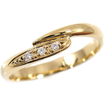 ダイヤモンド リング エンゲージリング 婚約指輪 ピンキーリング イエローゴールドk18 18金 ダイヤモンドリング ダイヤ ストレート 贈り物 誕生日プレゼント ギフト ファッション 妻 嫁 奥さん 女性 彼女 娘 母 祖母 パートナー 送料無料