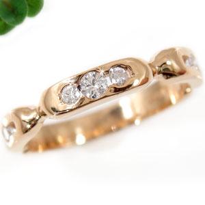 ダイヤモンド リング エンゲージリング 婚約指輪 ピンクゴールドK18 指輪 ダイヤモンド 0.13ct 18金 ダイヤモンドリング ダイヤ ストレート 贈り物 誕生日プレゼント ギフト ファッション