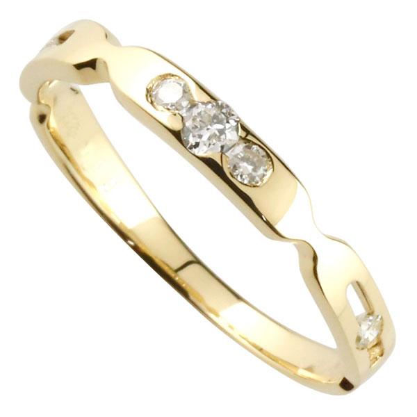 ダイヤモンド リング エンゲージリング 婚約指輪 イエローゴールドk18 指輪 K18 ダイヤモンド 0.13ct 18金 ダイヤモンドリング ダイヤ ストレート 贈り物 誕生日プレゼント ギフト ファッション 18k 妻 嫁 奥さん 女性 彼女 娘 母 祖母 パートナー 送料無料