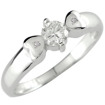 エンゲージリング 婚約指輪 ダイヤモンドリング ホワイトゴールドK18 指輪 一粒 ダイヤ大粒0.28ct ハート 18金 ダイヤ ストレート 贈り物 誕生日プレゼント ギフト ファッション 妻 嫁 奥さん 女性 彼女 娘 母 祖母 パートナー 送料無料