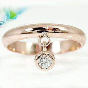 ピンキーリング ピンキーリングダイヤモンドリングピンクゴールドk18ダイヤモンド 指輪 18金 ダイヤ 4月誕生石 ストレート 2.3 宝石 送料無料