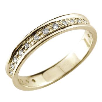 エタニティリング 指輪 ダイヤモンド リング 婚約指輪 エンゲージリング ダイヤ 0.13ct イエローゴールドk18 18金 ダイヤモンドリング ストレート 贈り物 誕生日プレゼント ギフト ファッション 妻 嫁 奥さん 女性 彼女 娘 母 祖母 パートナー 送料無料