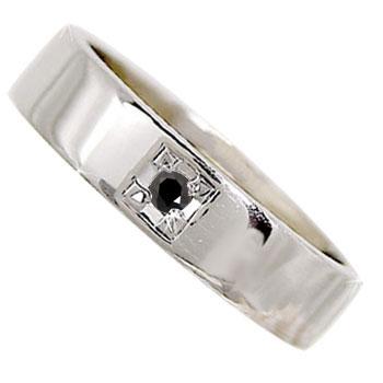 エンゲージリング 婚約指輪 ブラックダイヤモンド リング 一粒ダイヤ 0.03ct 幅広 指輪 ホワイトゴールドk18 18金 ダイヤモンドリング ストレート 贈り物 誕生日プレゼント ギフト ファッション 妻 嫁 奥さん 女性 彼女 娘 母 祖母 パートナー 送料無料