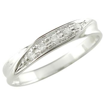 婚約指輪 エンゲージリング ダイヤモンド リング ダイヤ 0.05ct ピンキーリング ホワイトゴールドk18 18金 ダイヤモンドリング ストレート 贈り物 誕生日プレゼント ギフト ファッション 妻 嫁 奥さん 女性 彼女 娘 母 祖母 パートナー 送料無料