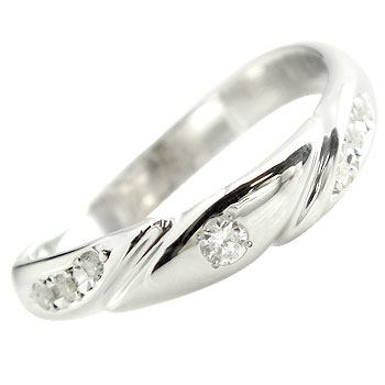 婚約指輪 エンゲージリング ダイヤモンド リング ピンキーリング ダイヤ 指輪 ホワイトゴールドk18 18金 ダイヤモンドリング ストレート 贈り物 誕生日プレゼント ギフト ファッション 妻 嫁 奥さん 女性 彼女 娘 母 祖母 パートナー 送料無料