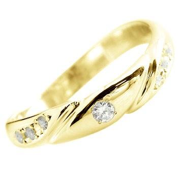 エンゲージリング 婚約指輪 ダイヤモンド リング ピンキーリング ダイヤ 指輪 イエローゴールドk18 18金 ダイヤモンドリング ストレート 贈り物 誕生日プレゼント ギフト ファッション 18k