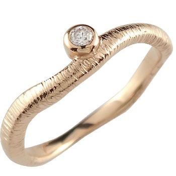 婚約指輪 エンゲージリング ダイヤモンド 一粒 ピンクゴールドk18 18金 ダイヤモンドリング ダイヤ ストレート 贈り物 誕生日プレゼント ギフト ファッション 18k 妻 嫁 奥さん 女性 彼女 娘 母 祖母 パートナー 送料無料
