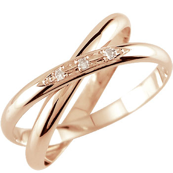 【送料無料】婚約指輪 エンゲージリング ダイヤモンド ピンクゴールドk18 2連 18金 ダイヤモンドリング ダイヤ ストレート スリーストーン 2.3 贈り物 誕生日プレゼント ギフト ファッション 18k