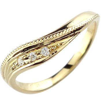 婚約指輪 エンゲージリング ダイヤモンド イエローゴールドk18 18金 ダイヤモンドリング ダイヤ ストレート 贈り物 誕生日プレゼント ギフト ファッション 妻 嫁 奥さん 女性 彼女 娘 母 祖母 パートナー 送料無料