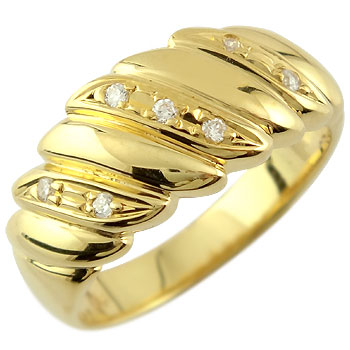 婚約指輪 エンゲージリング ダイヤモンド リング 幅広 指輪 イエローゴールドk18 18金 ダイヤモンドリング ダイヤ ストレート 贈り物 誕生日プレゼント ギフト ファッション 妻 嫁 奥さん 女性 彼女 娘 母 祖母 パートナー 送料無料