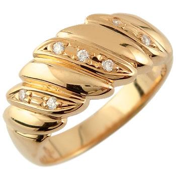 婚約指輪 エンゲージリング ダイヤモンド リング 幅広 指輪 ピンクゴールドk18ダイヤモンド リング 18金 ダイヤモンドリング ダイヤ ストレート 贈り物 誕生日プレゼント ギフト ファッション 妻 嫁 奥さん 女性 彼女 娘 母 祖母 パートナー 送料無料