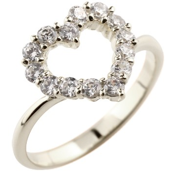 エンゲージリング 婚約指輪 オープンハート パヴェリング ダイヤモンド リング 指輪 ホワイトゴールドk18 ピンキーリング ダイヤ ダイヤリング 18金 レディース 贈り物 誕生日プレゼント ギフト ファッション 18k お返し