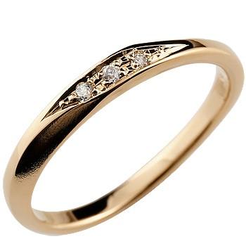 婚約指輪 エンゲージリング ダイヤモンドリング ダイヤ 指輪 ピンクゴールドk18 18金 つや消し レディース ストレート 贈り物 誕生日プレゼント ギフト ファッション 18k お返し 妻 嫁 奥さん 女性 彼女 娘 母 祖母 パートナー 送料無料