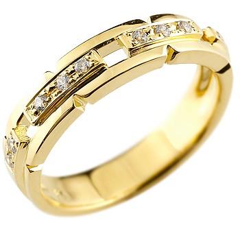 婚約指輪 エンゲージリング ダイヤモンド リング 幅広 指輪 ピンキーリング ダイヤ ダイヤモンドリング イエローゴールドk18 18金 レディース ストレート 贈り物 誕生日プレゼント ギフト ファッション お返し 妻 嫁 奥さん 女性 彼女 娘 母 祖母 パートナー 送料無料