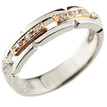 婚約指輪 エンゲージリング ダイヤモンド リング プラチナ ピンクゴールドk18 コンビリング 幅広 ピンキーリング ダイヤ ダイヤモンドリング レディース 18金 贈り物 誕生日プレゼント ギフト ファッション 18k 妻 嫁 奥さん 女性 彼女 娘 母 祖母 パートナー 送料無料