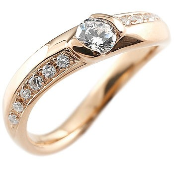 婚約指輪 エンゲージリング ダイヤモンド リング 指輪 ピンクゴールドk18 ダイヤ ダイヤモンドリング 大粒 レディース 18金 ストレート 贈り物 誕生日プレゼント ギフト ファッション 18k お返し 妻 嫁 奥さん 女性 彼女 娘 母 祖母 パートナー 送料無料