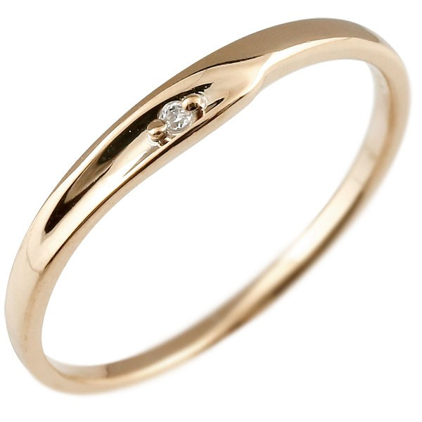 婚約指輪 エンゲージリング ダイヤモンド ピンキーリング ピンクゴールドk18 ダイヤ 18金 極細 華奢 指輪 アクセサリー シンプル 贈り物 誕生日プレゼント ギフト ファッション 18k 妻 嫁 奥さん 女性 彼女 娘 母 祖母 パートナー 送料無料