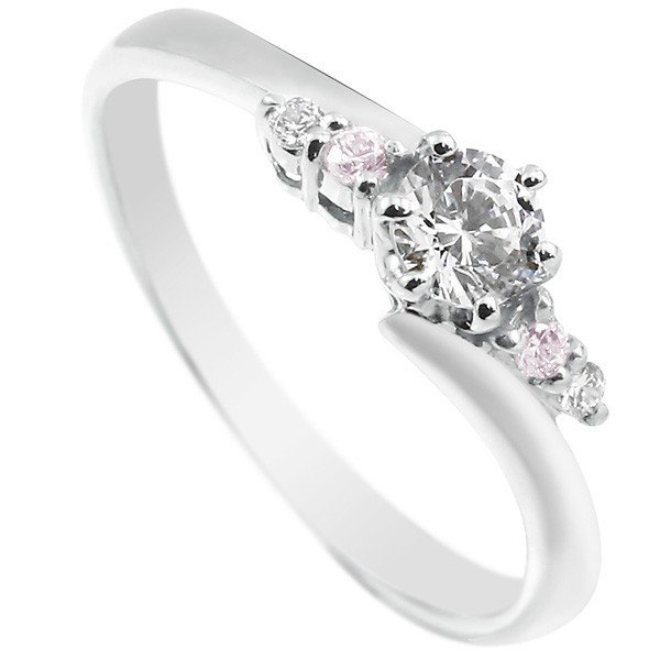 【あす楽】プラチナ ダイヤモンド 婚約指輪 エンゲージリング リング 一粒 大粒 ダイヤ ピンクダイヤモンド ストレート 贈り物 誕生日プレゼント ギフト ファッション