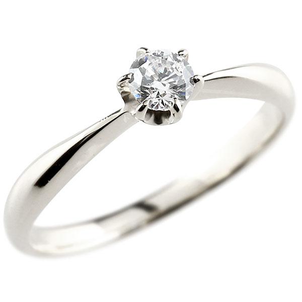 【送料無料】エンゲージリング ホワイトゴールドk18 ダイヤモンド 大粒 一粒 指輪 婚約指輪 18金 リング ストレート ギフト プレゼント 贈り物 ファッション 18k 妻 嫁 奥さん 女性 彼女 娘 母 祖母 パートナー