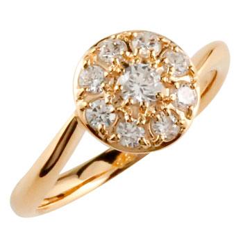 婚約指輪 エンゲージリング ダイヤモンドリング ダイヤ 指輪 取り巻き スパイラル ピンクゴールドk18 18金 ストレート 贈り物 誕生日プレゼント ギフト ファッション 妻 嫁 奥さん 女性 彼女 娘 母 祖母 パートナー 送料無料