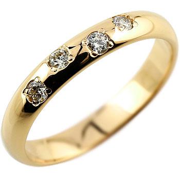 【送料無料】ダイヤモンド リング イエローゴールドK18 婚約指輪 エンゲージリング ダイヤモンド 0.13ct 指輪 18金 ダイヤモンドリング ダイヤ ストレート 贈り物 誕生日プレゼント ギフト ファッション 18k 妻 嫁 奥さん 女性 彼女 娘 母 祖母 パートナー