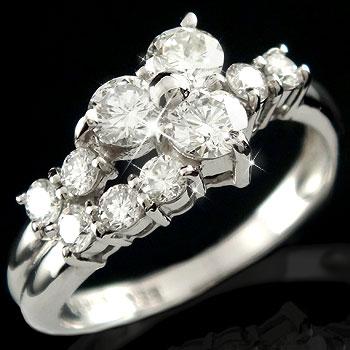 【送料無料】エタニティリング エンゲージリング ダイヤモンドリング ホワイトゴールドK18 婚約指輪 ダイヤモンド0.68ct 18金 ダイヤ ストレート 贈り物 誕生日プレゼント ギフト ファッション 妻 嫁 奥さん 女性 彼女 娘 母 祖母 パートナー