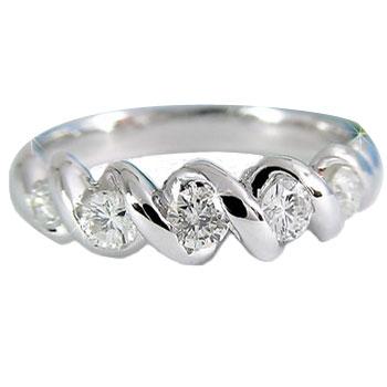 【送料無料】ダイヤモンド リング プラチナリング 婚約指輪 エンゲージリング ダイヤモンド リングダイヤモンド 0.45ct 指輪 ダイヤモンドリング ダイヤ ストレート 贈り物 誕生日プレゼント ギフト ファッション